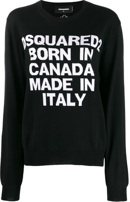 DSQUARED2 intarsia logo knitted sweater