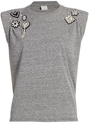 Cinq à Sept Reese Embellished Sleeveless Tank Top