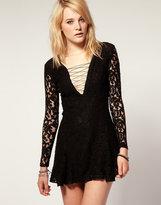 stylestalker Lace Long Sleeve Dress
