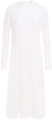 Rodebjer Gathered Wool Midi Dress
