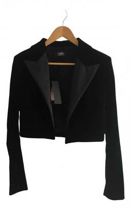Karl Lagerfeld Paris Black Velvet Jackets