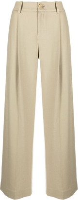 Vince High-Waisted Wide-Leg Trousers