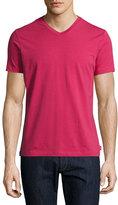 Armani Collezioni Stretch-Cotton V-Neck T-Shirt, Raspberry