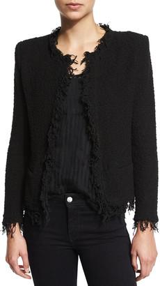 IRO Shavani Open-Front Boucle Jacket