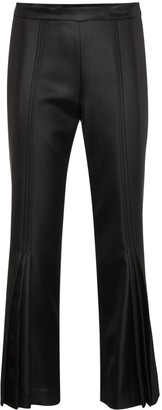 Marco De Vincenzo cropped flared mid rise pants