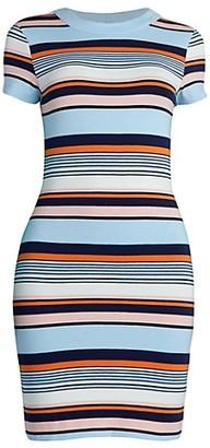 French Connection Byatt Striped Bodycon T-Shirt Dress