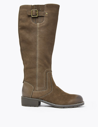 Marks and Spencer Leather Stitch Knee High Boots