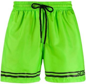 GCDS Striped Track Shorts