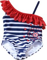 ekoobee Infant Baby Girls Striped One Piece Swimwear