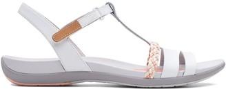 Clarks Tealite Grace Flat Sandal Shoes - White