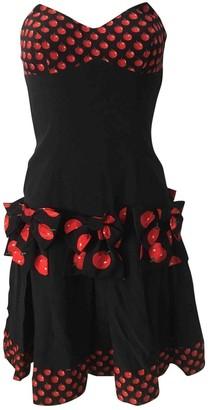 Oleg Cassini Black Cotton Dress for Women Vintage