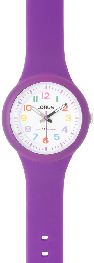 Lorus RRX47EX-9 Kids' Purple Strap Coloured Number Analogue Watch