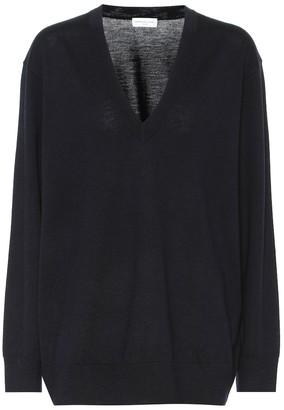 Dries Van Noten Merino wool V-neck sweater