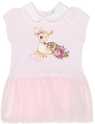 MonnaLisa Baby printed dress