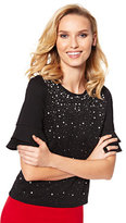 New York & Co. 7th Avenue Design Studio - Embellished Ruffle-Sleeve Top