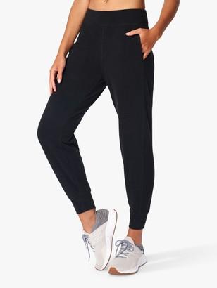 Sweaty Betty Gary Luxe Fleece Yoga Pants, Black