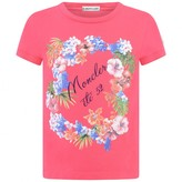 Moncler MonclerBaby Girls Fuchsia Floral Print Top