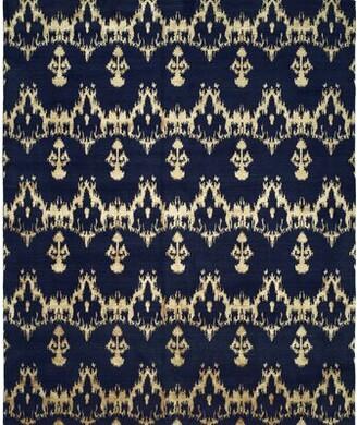 Wildon Home Ikat Handwoven Blue Area Rug Rug Size: Rectangle 2' x 3'