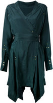 Isabel Marant handkerchief hem wrap dress - women - Silk/Brass - 38