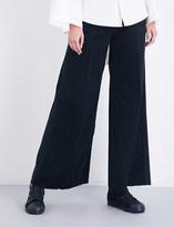 Miharayasuhiro Ladies Blue Unique Wide-Leg High-Rise Jeans