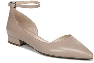 Franco Sarto Ankle Strap Pointed Toe Flats - Slide