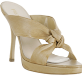 natural leather knotted detail sandals