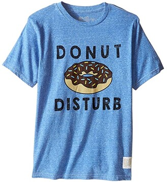 The Original Retro Brand Kids Donut Disturb Short Sleeve Tri-Blend Tee (Little Kids/Big Kids) (Streaky Blue) Boy's T Shirt