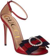 Gucci Gg Web Crystal Sandal
