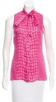 Moschino Cheap & Chic Moschino Cheap and Chic Silk Geometric Print Top