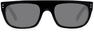 Celine 56MM Futuristic Mirrored Sunglasses
