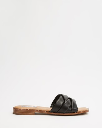 Steve Madden Women's Black Strappy sandals - Terron - Size 7 at The Iconic