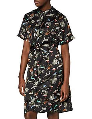Yumi Women's Animal Printed Shirt Dress Casual