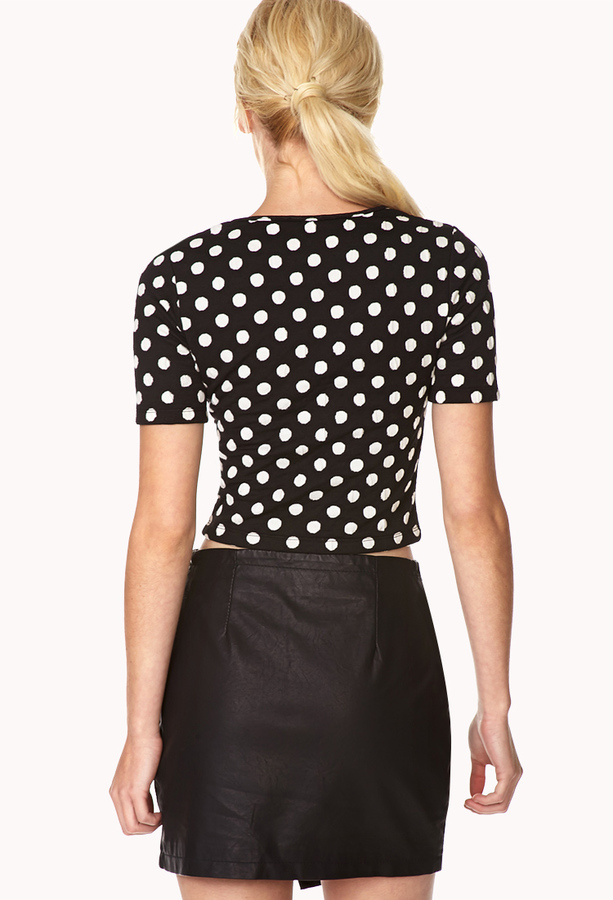 Forever 21 Darling Dots Crop Top