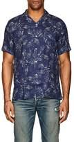 Hartford Men's Palm-Tree-Print Linen Gauze Sport Shirt
