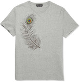 Alexander Mcqueen - Slim-fit Embroidered Cotton-jersey T-shirt