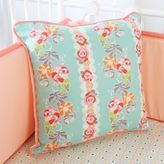 Caden Lane Lovely Coral Lace Square Pillow