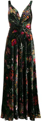 Paco Rabanne Printed Velvet Dress