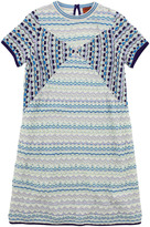 Missoni Sky blue, electric blue and purple knit dress