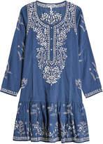 Juliet Dunn Embroidered Cotton Dress