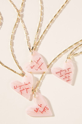 WALD BERLIN Conversation Heart Pendant Necklace By in Pink Size ALL