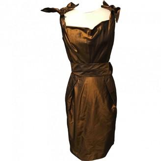 Krizia Gold Silk Dress for Women Vintage