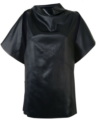 3.1 Phillip Lim Side Snap Cape Top