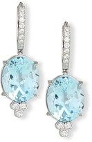 Rina Limor Fine Jewelry 18K White Gold & Blue Topaz Oval Drop Earrings