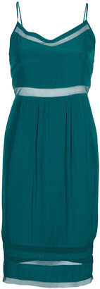 Elizabeth and James Sea Green Mesh Insert Sleeveless Dress XS