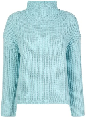 Vince High-Neck Ribbed Sweater