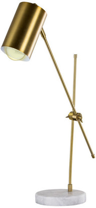 "American Art Decor Bronze Metal 23"" Task Lamp With Marble Base"