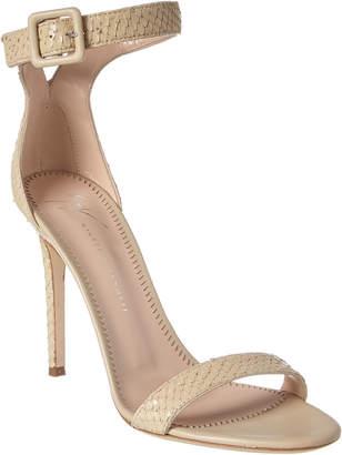 Giuseppe Zanotti Neyla Snake-Embossed Leather Sandal