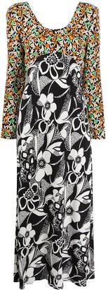 Rixo Contrast Floral Print Dress
