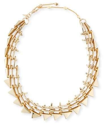 Alexis Bittar Golden Futurist Link Necklace