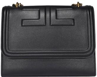 Elisabetta Franchi Logo Embossed Shoulder Bag